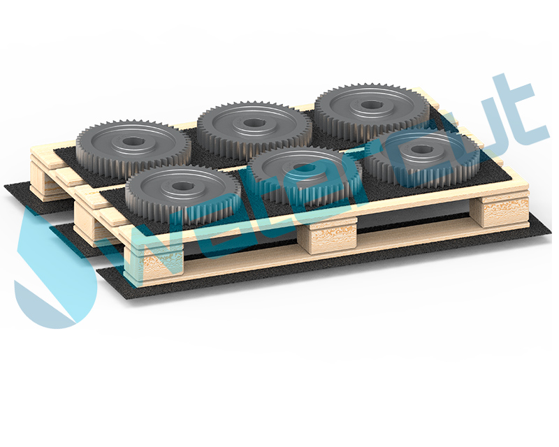 Non-slip recycled rubber